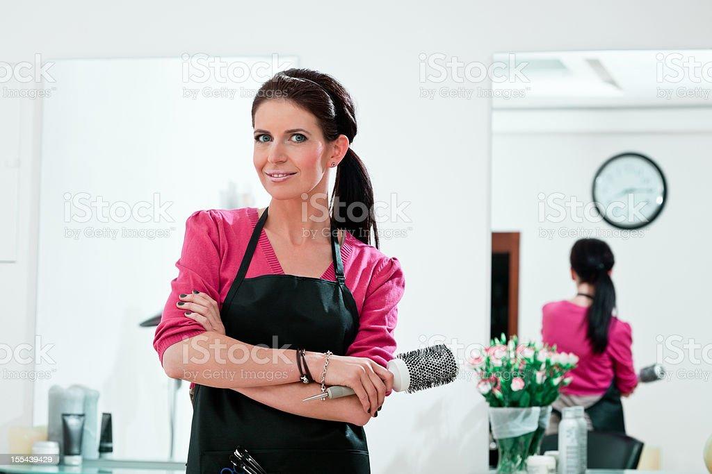 Female hairdresser royalty-free stock photo