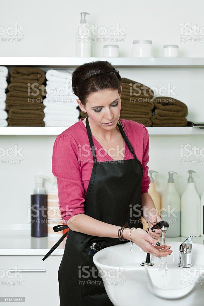 Weibliche Friseur Lizenzfreies stock-foto
