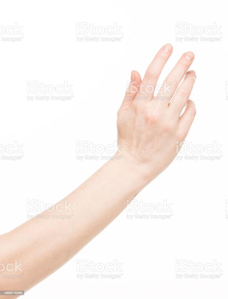 Female hand gesture stock photo