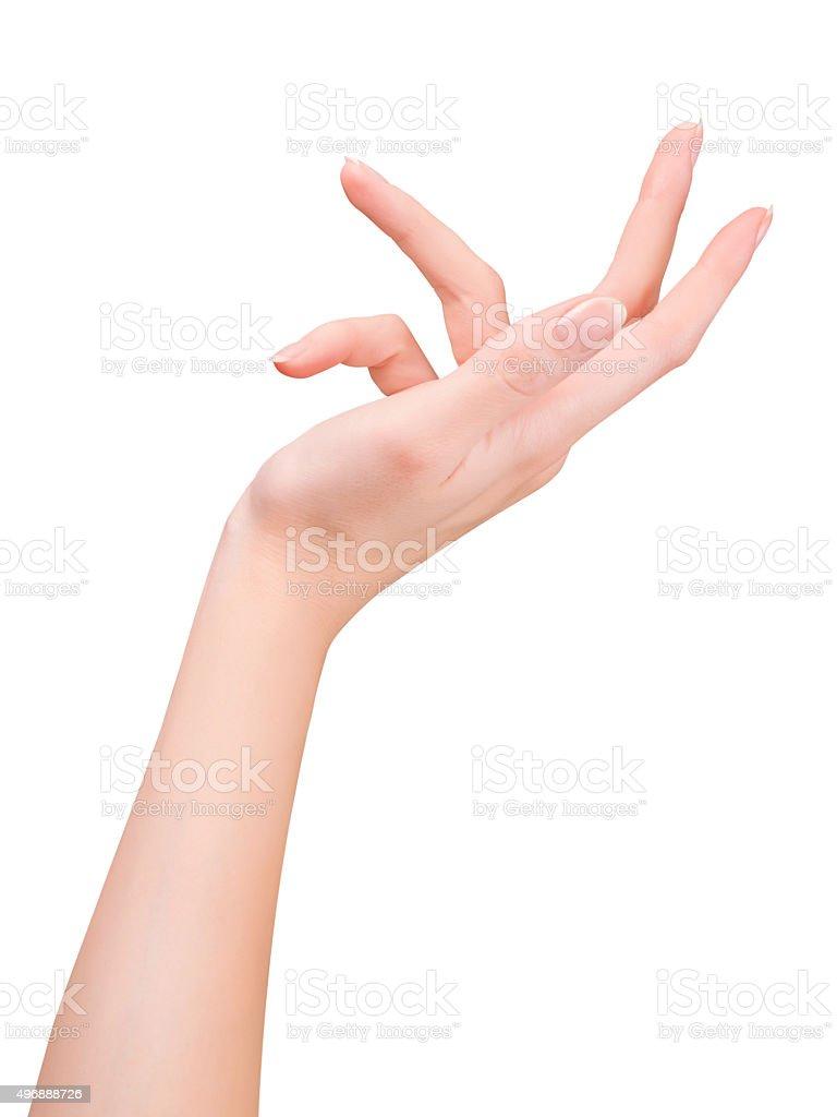 Female hand gesture stock photo