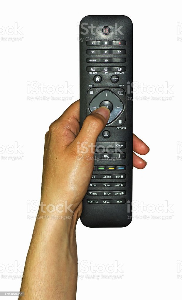 Female Hand Holding a Remote Controller royalty-free stock photo