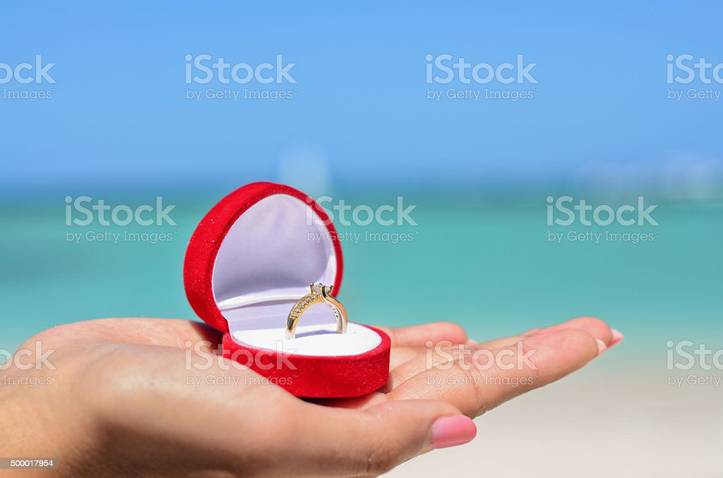 Which Hand Wedding Ring Female.Female Hand Holding Golden Wedding Ring Stock Photo Download Image