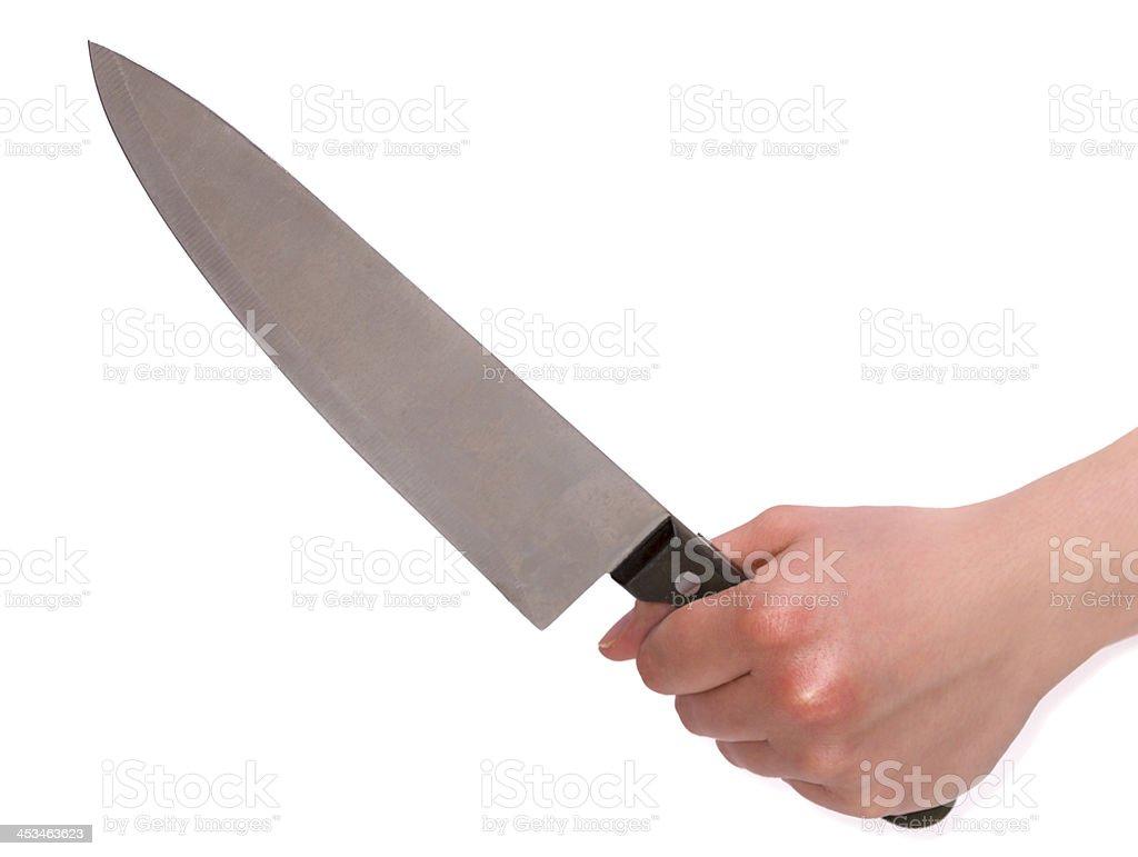 Weibliche Hand Holding Scharfe Messer – Foto