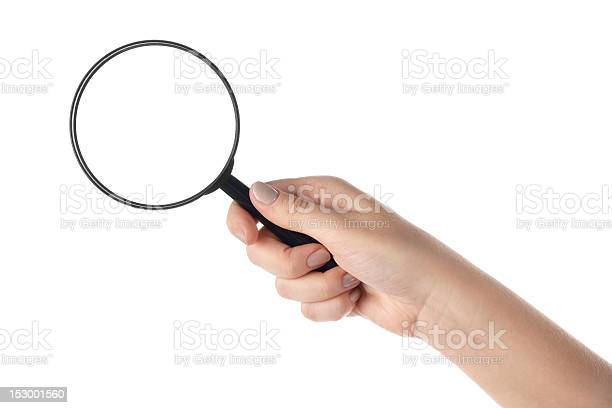Female hand holding the magnifying glass picture id153001560?b=1&k=6&m=153001560&s=612x612&h=16w ltk8etxdn9igpqihsgzby mcmkreawgnfd3ao s=