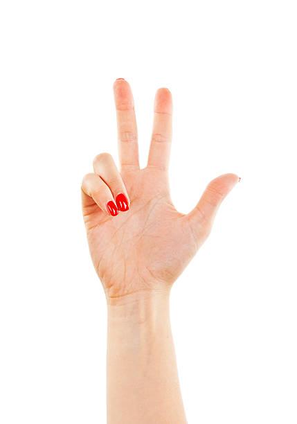 weibliche hand zeigt fünf finger - bester nagellack stock-fotos und bilder