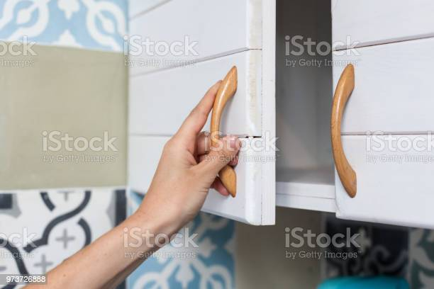 Female hand open the cupboard doors close up picture id973726888?b=1&k=6&m=973726888&s=612x612&h=o7h0np66yi2bodm4luob42olkmbvjtphl5v sjpxtls=