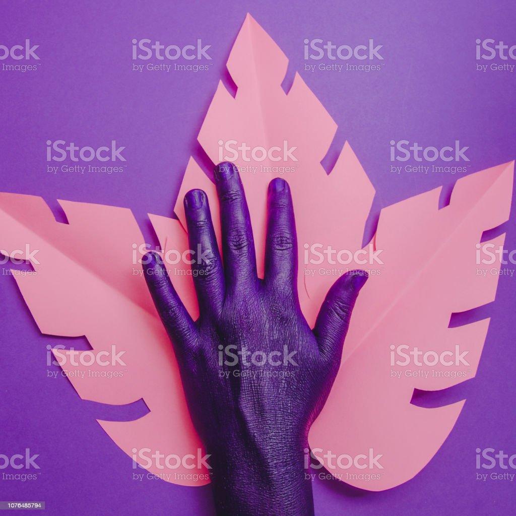 Female hand, showing beauty and skin care symbolism, minimal fashion...