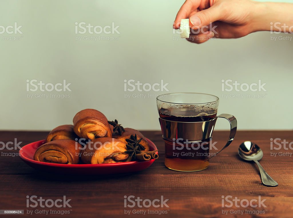 Female hand throwing a lump stock photo