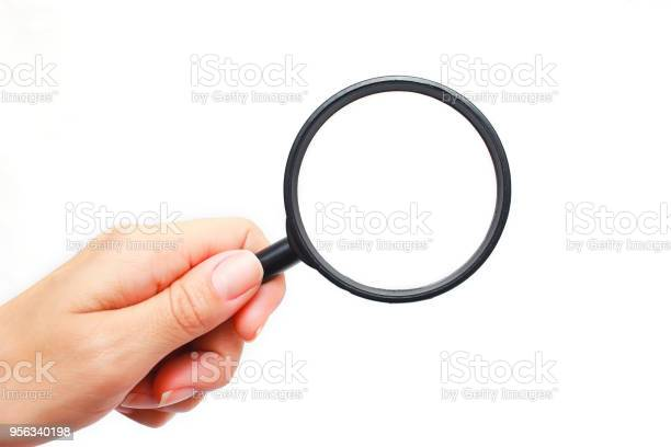 Female hand with a magnifying glass on a white background picture id956340198?b=1&k=6&m=956340198&s=612x612&h=cfpotm5v4r8ledcxivdztpbiohr3ms efmaynf fcf0=