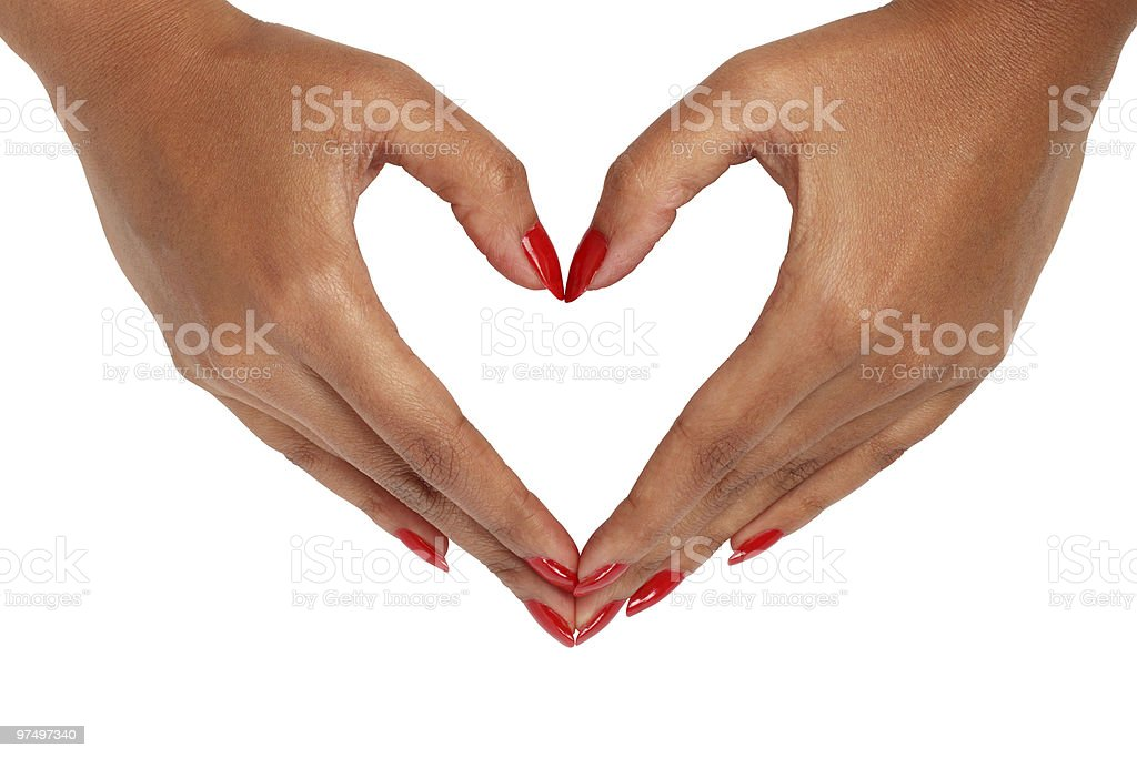 Female hand with love gesture royalty-free stock photo