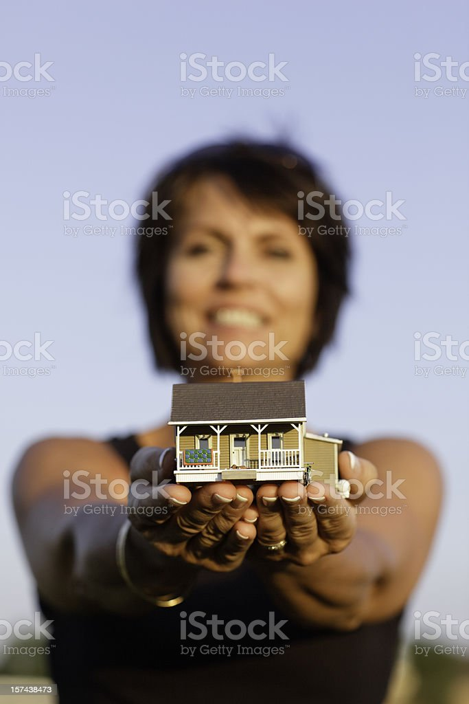 Female Hands holding house royalty-free stock photo