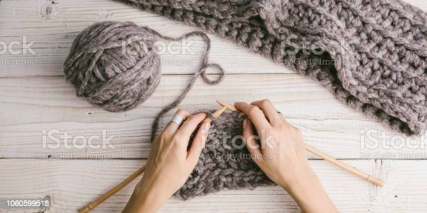 Female hands in the process of knitting picture id1060599518?b=1&k=6&m=1060599518&s=612x612&h=5fvzszjyctir3quo8kxuxcur1ruo6hqosp1gznkbow4=