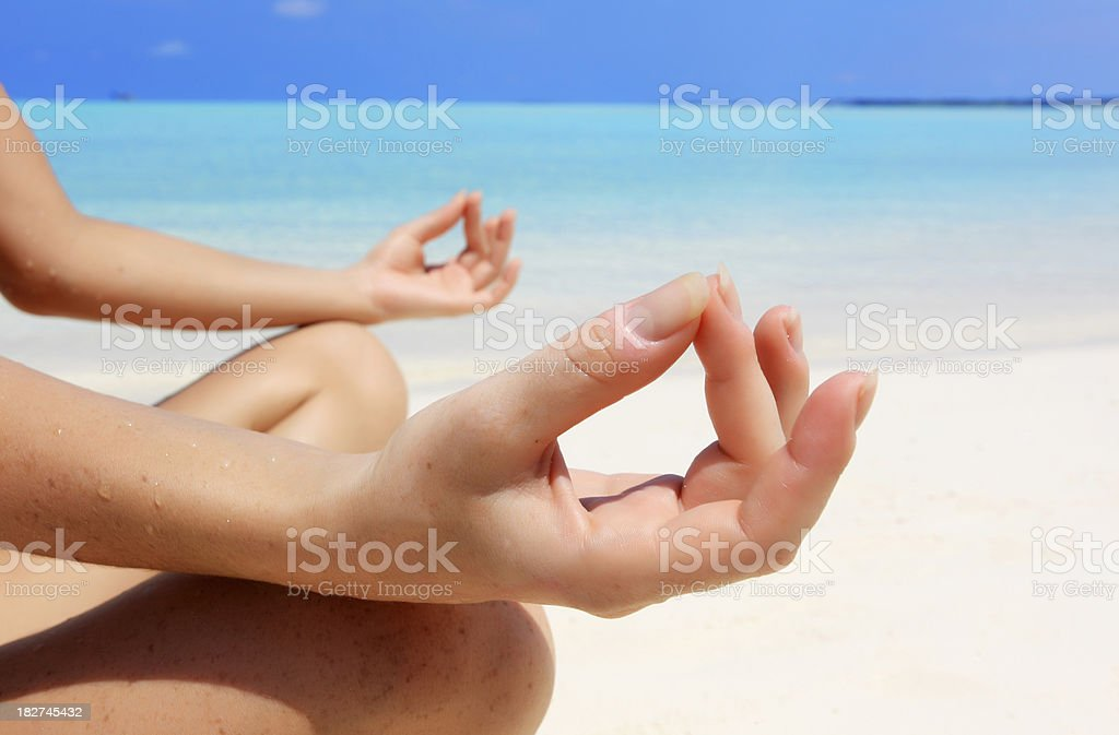 Female hands in yoga pose. royalty-free stock photo