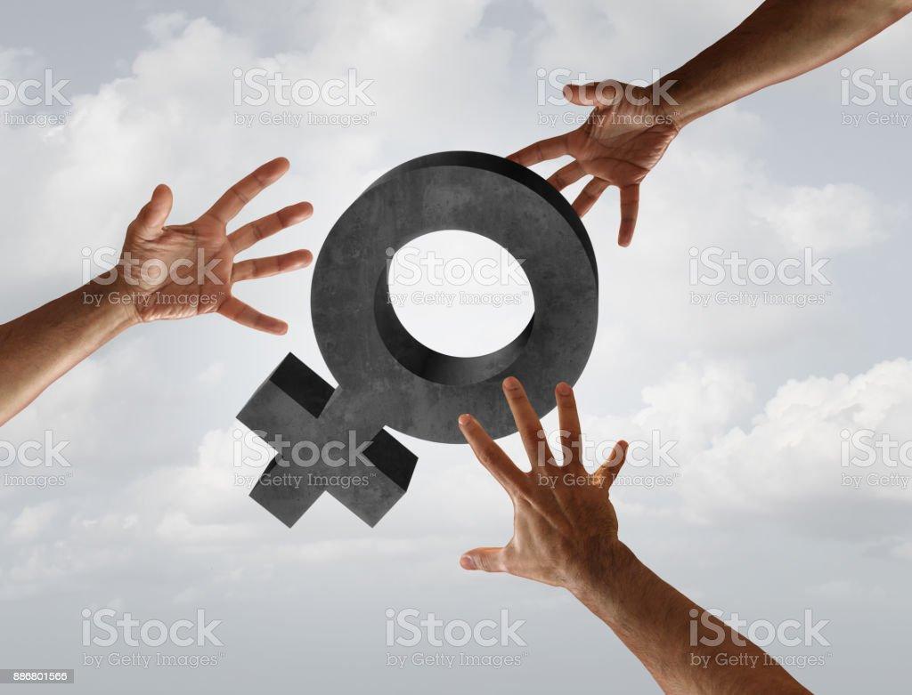 Female Harassment stock photo