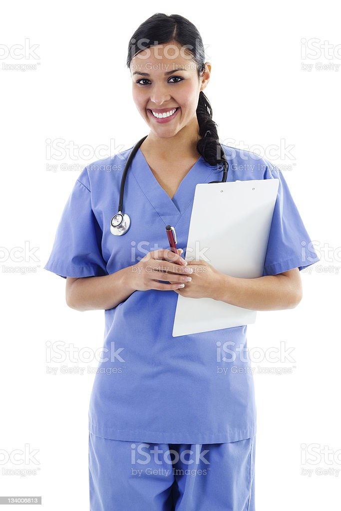 Female health care worker stock photo
