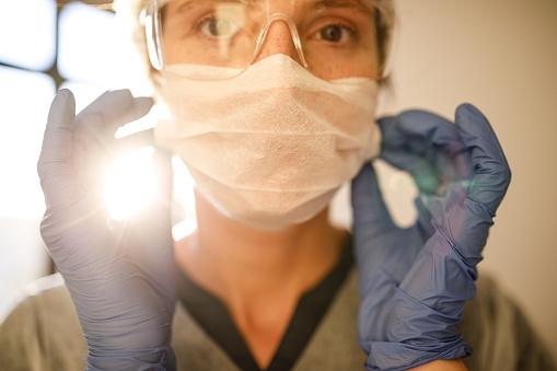 Female health care worker.