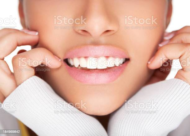 Female Healthy White Toothy Smile Stock Photo - Download Image Now