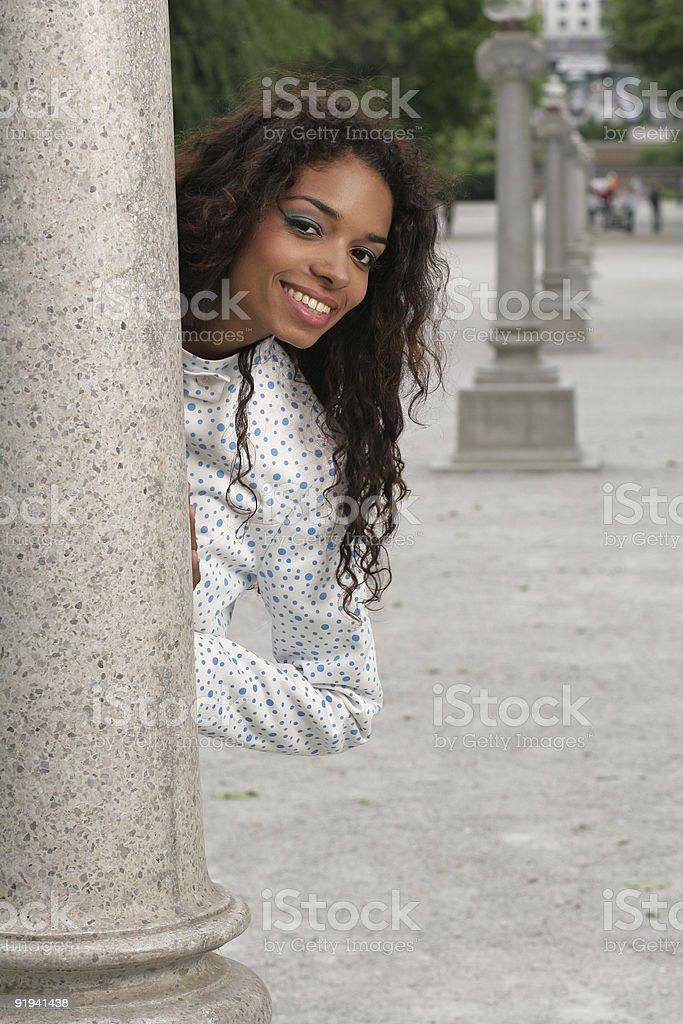 Female hiding royalty-free stock photo