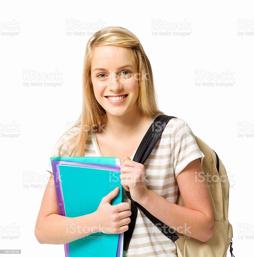 Female High School Student royalty-free stock photo