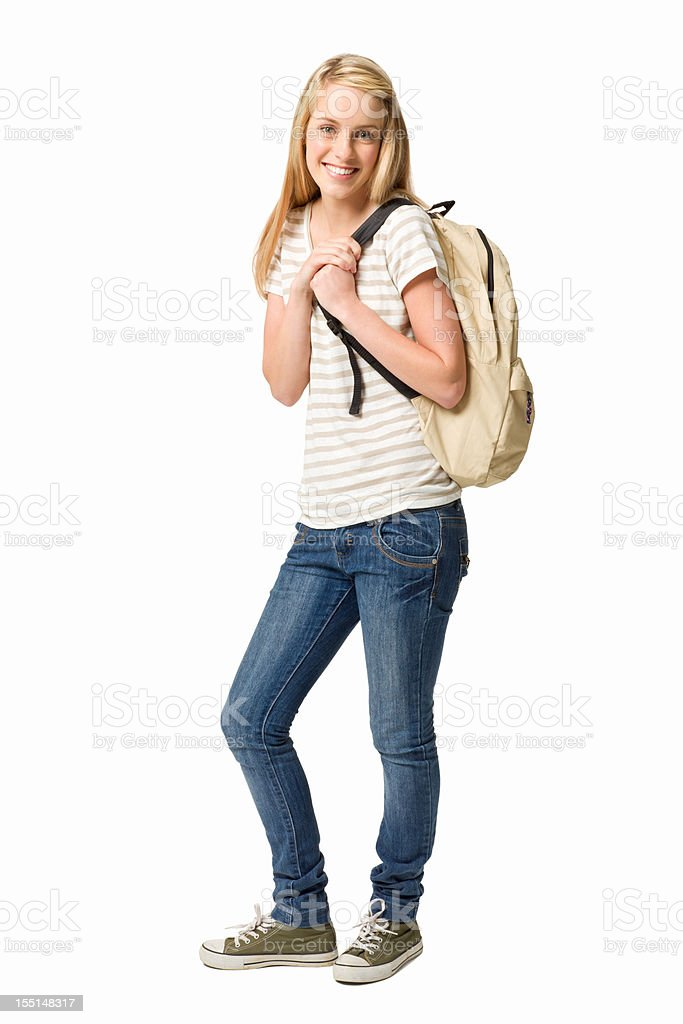 Female High School Student stock photo