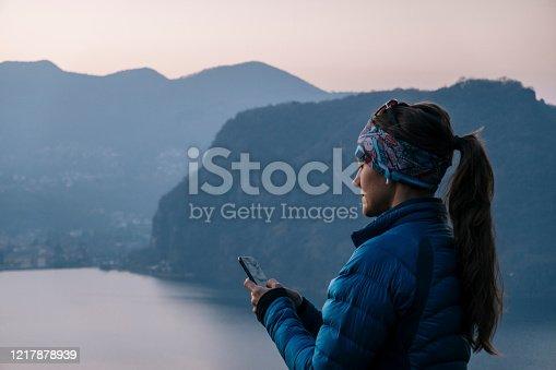 She sits at viewpoint