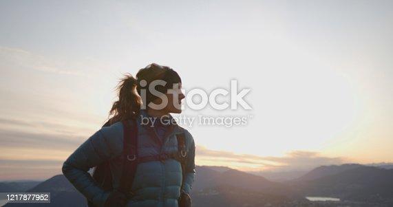 Bundled in warm apparel at sunrise