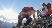 Matterhorn and distant range visible