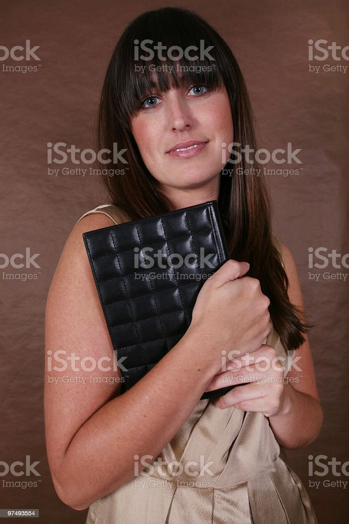Female holding a book royalty-free stock photo