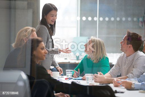 istock Female holds a Successful Business Meeting 872018846