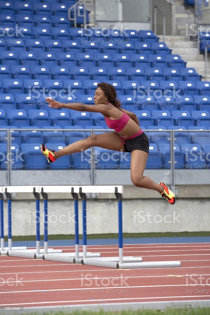 Atleta feminina foto de stock royalty-free