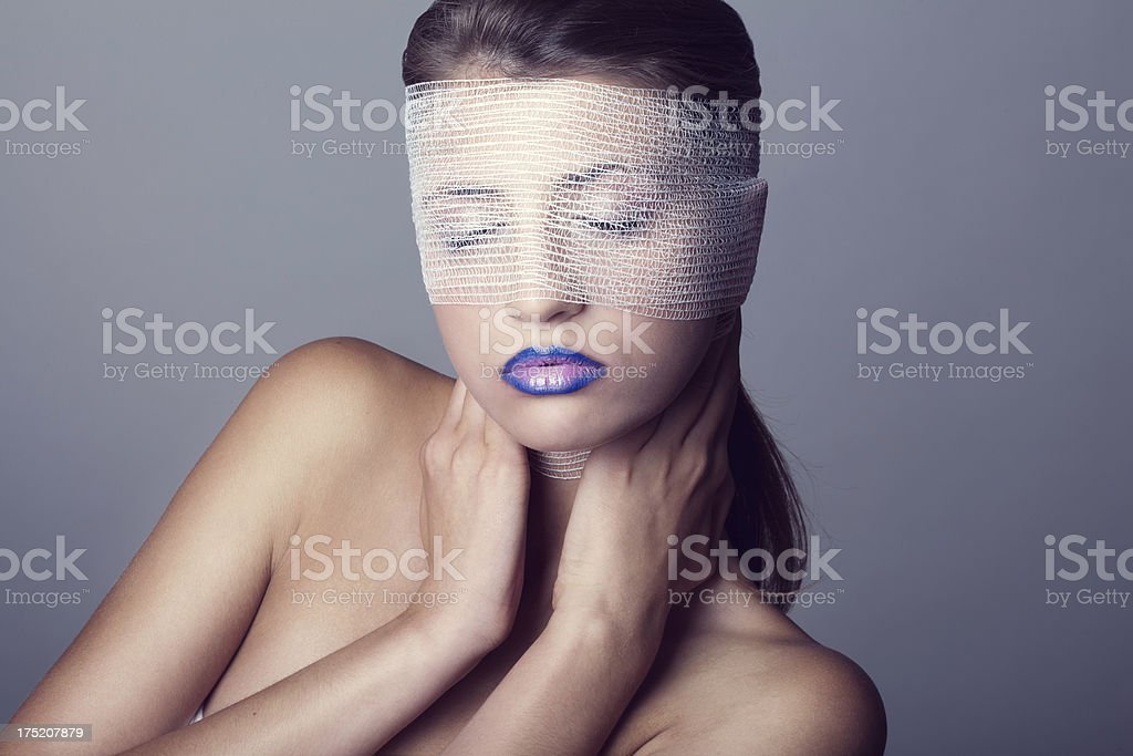 Female in bandages royalty-free stock photo