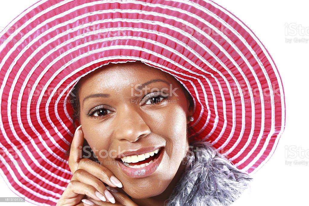 female in sombrero royalty-free stock photo