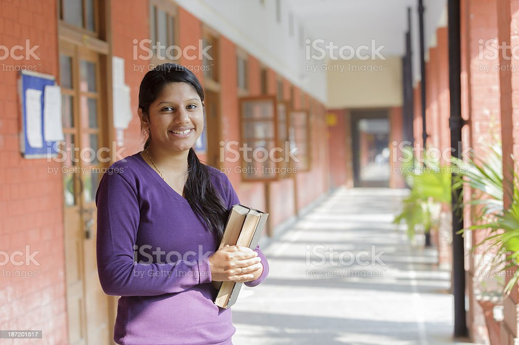 Female Indian College Student stock photo