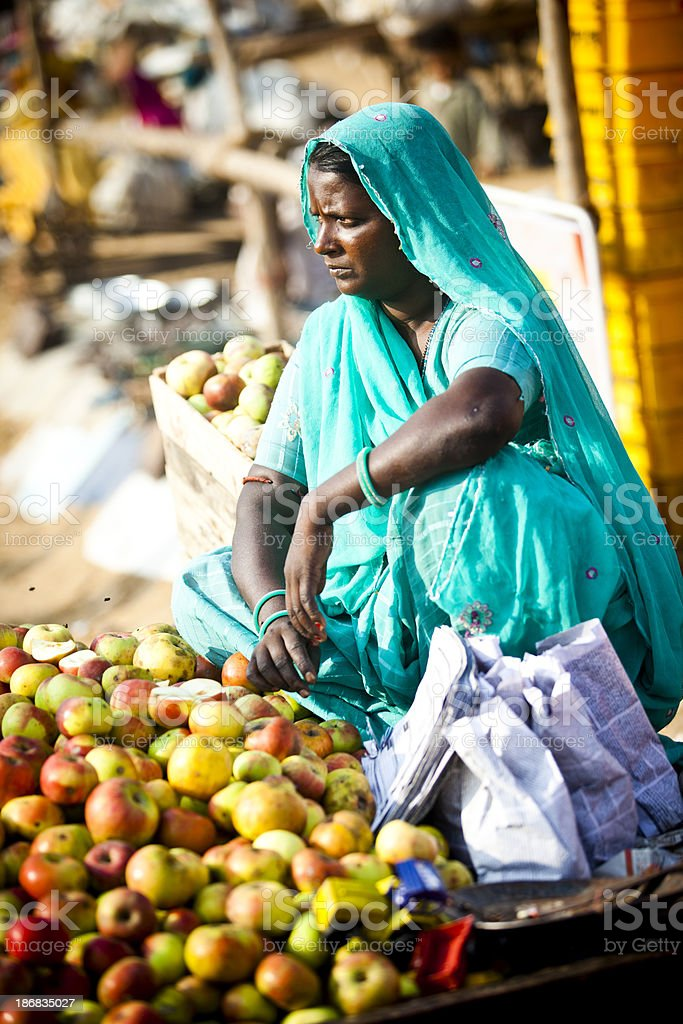 Female Indian Vendor royalty-free stock photo