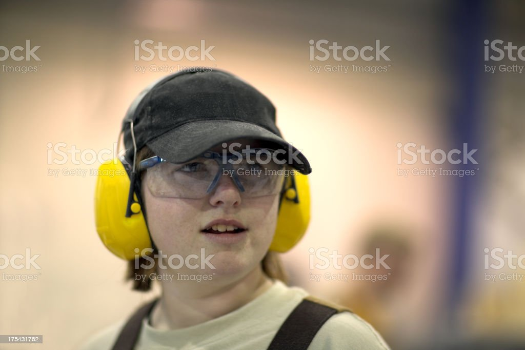 Female industrial worker royalty-free stock photo