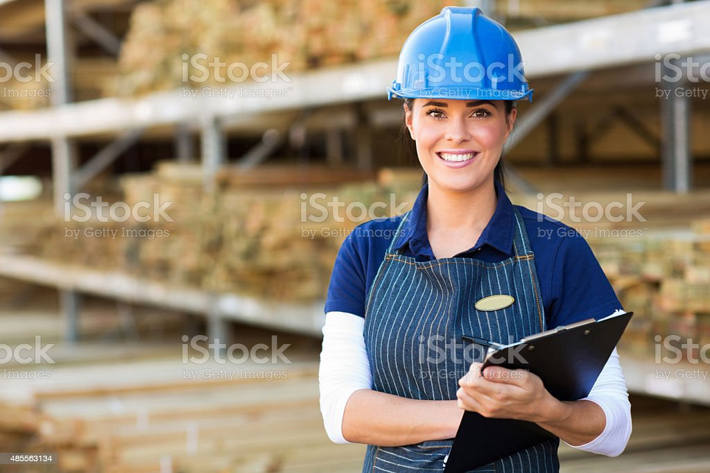 female industrial worker stock photo