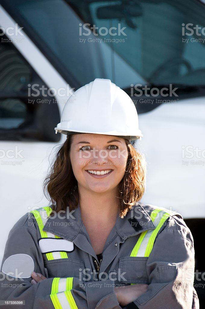 Female Industrial Worker Series royalty-free stock photo