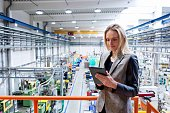 istock Female inspector in the industrial production! 610219284