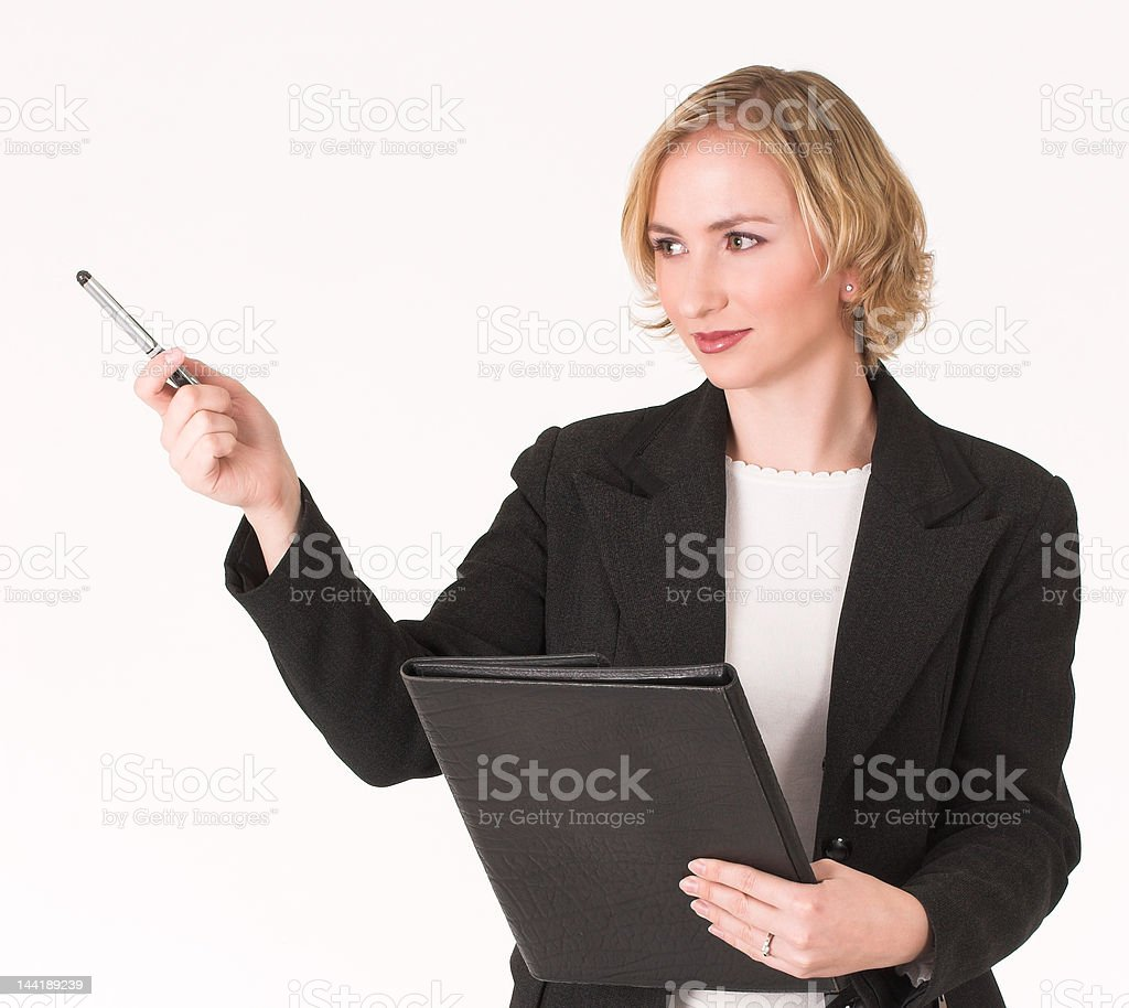 Female inspector royalty-free stock photo
