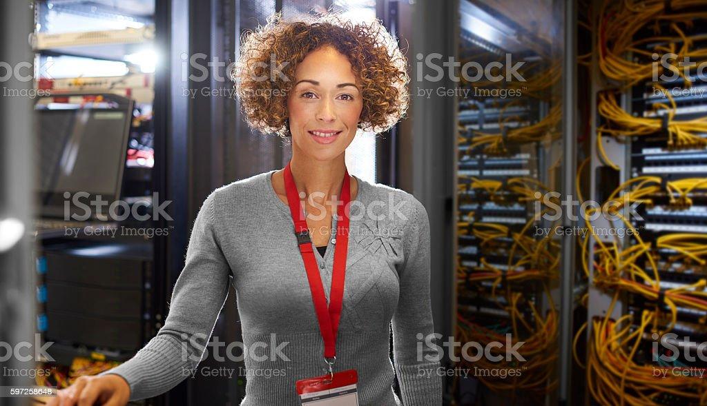 Female IT engineer stock photo