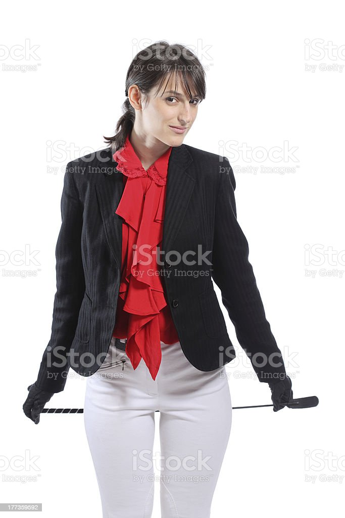 female jockey royalty-free stock photo