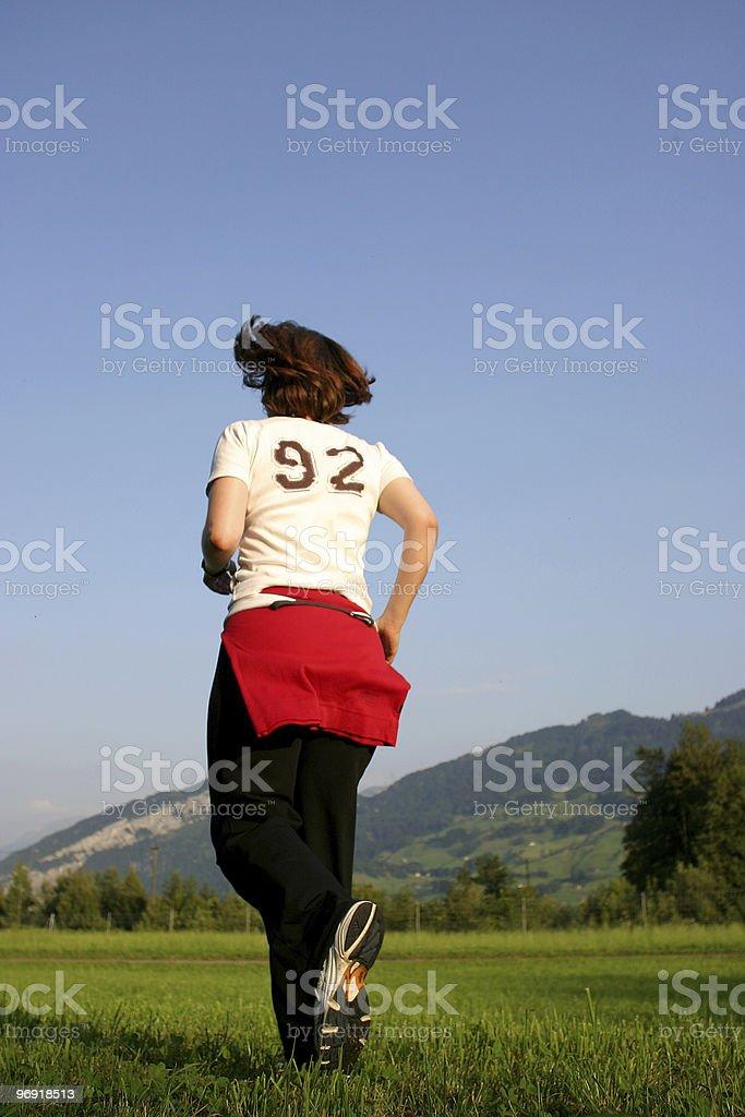 female jogging royalty-free stock photo