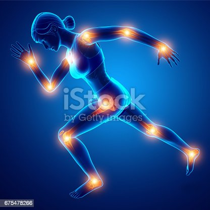 istock Female joint pain 675478266