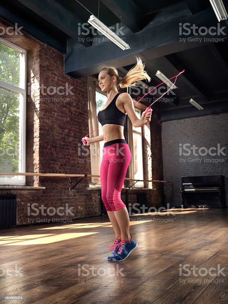 Female Jump Rope stock photo