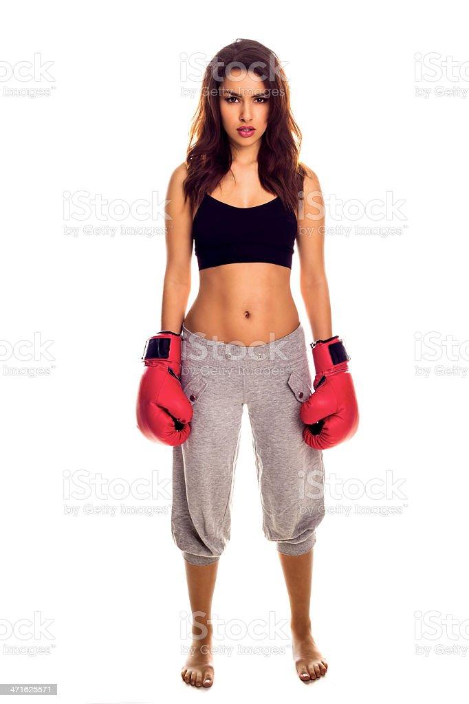 kick boxe feminino. - foto de acervo