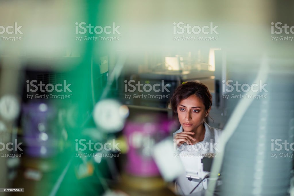 Female Laboratory Research Analyst stock photo