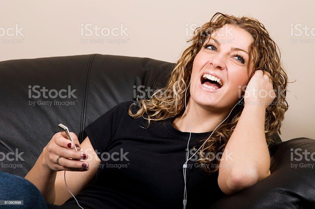Female Laughing stock photo