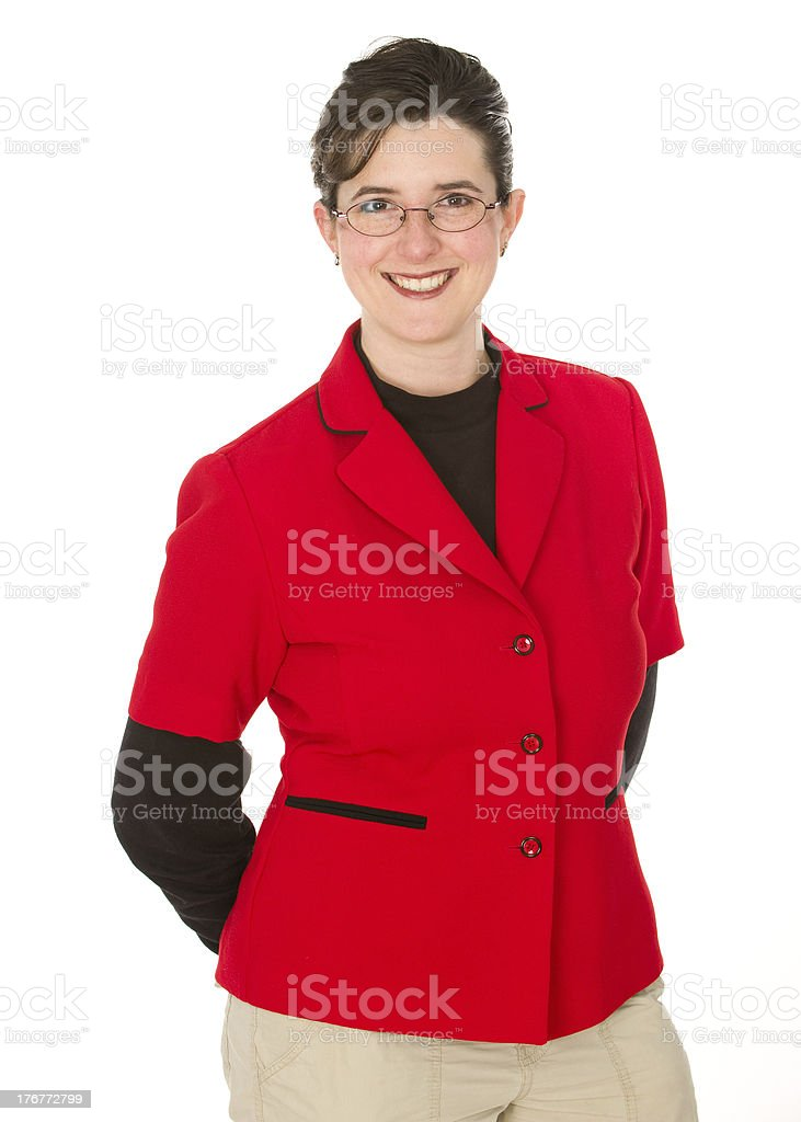 Female Leader in Red royalty-free stock photo
