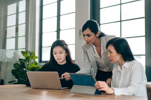 Female leadership in an all women business team