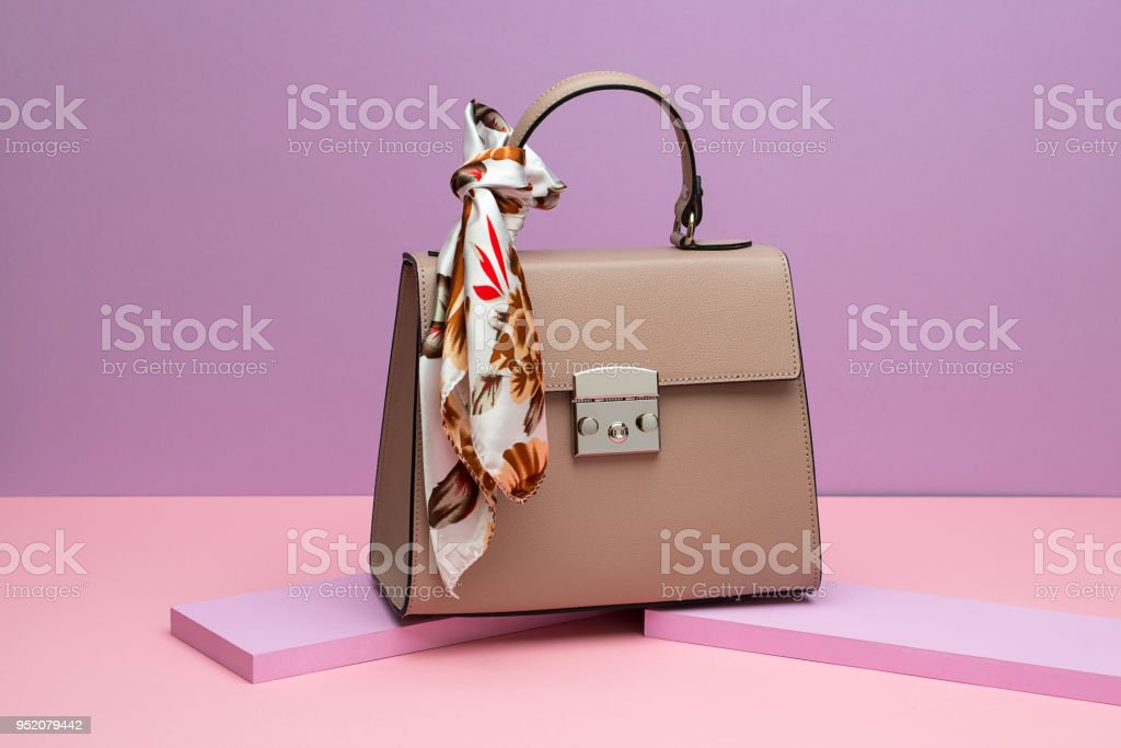 Female leather bag stock photo